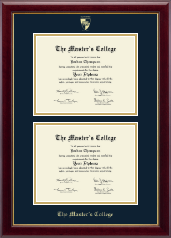 The Master's College Diploma Frame - Double Diploma Frame in Gallery