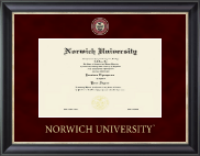 Norwich University Diploma Frame - Regal Edition Diploma Frame in Noir