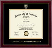 University of Colorado Anschutz Medical Campus Diploma Frame - Masterpiece Medallion Diploma Frame in Gallery