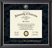 University of Colorado Anschutz Medical Campus Diploma Frame - Regal Edition Diploma Frame in Midnight