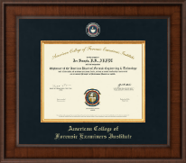 American College of Forensic Examiners Institute Certificate Frame - Presidential Masterpiece Certificate Frame in Madison