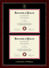 University of Phoenix Diploma Frame - Double Diploma Frame in Sutton