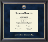 Pepperdine University Diploma Frame - Regal Edition Diploma Frame in Noir