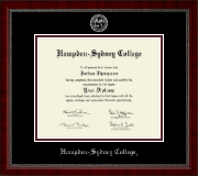 Hampden-Sydney College Diploma Frame - Silver Embossed Diploma Frame in Sutton