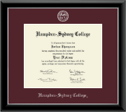 Hampden-Sydney College Diploma Frame - Silver Embossed Diploma Frame in Onyx Silver