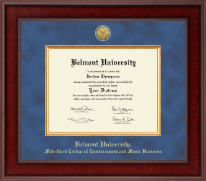 Belmont University Diploma Frame - Presidential Gold Engraved Diploma Frame in Jefferson