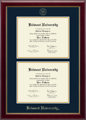 Belmont University Diploma Frame - Double Diploma Frame in Gallery