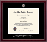 Johns Hopkins University Diploma Frame - Masterpiece Medallion Diploma Frame in Gallery Silver