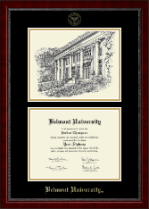 Belmont University Diploma Frame - Campus Scene Diploma Frame in Sutton