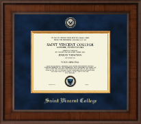 Saint Vincent College Diploma Frame - Presidential Masterpiece Diploma Frame in Madison