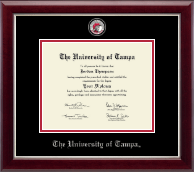 University of Tampa Diploma Frame - Masterpiece Medallion Diploma Frame in Gallery Silver