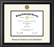 Michigan Technological University Diploma Frame - Dimensions Diploma Frame in Midnight