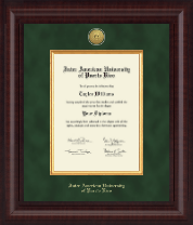 Inter American University of Puerto Rico Diploma Frame - Presidential Gold Engraved Diploma Frame in Premier