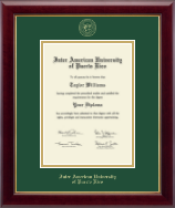 Inter American University of Puerto Rico Diploma Frame - Gold Embossed Diploma Frame in Gallery