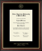 Inter American University of Puerto Rico Diploma Frame - Gold Embossed Diploma Frame in Studio Gold