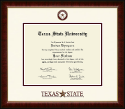 Texas State University Diploma Frame - Dimensions Diploma Frame in Murano