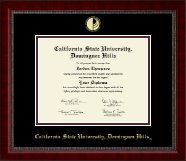 California State University Dominguez Hills Diploma Frame - Gold Embossed Diploma Frame in Sutton