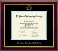 El Paso Community College Diploma Frame - Gold Embossed Diploma Frame in Gallery
