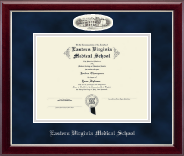 Eastern Virginia Medical School Diploma Frame - Campus Cameo Diploma Frame in Gallery Silver