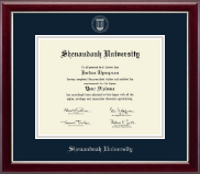 Shenandoah University Diploma Frame - Silver Embossed Diploma Frame in Gallery Silver