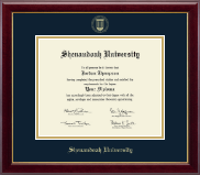 Shenandoah University Diploma Frame - Gold Embossed Diploma Frame in Gallery