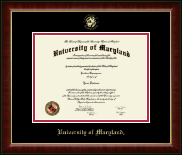 University of Maryland, College Park Diploma Frame - Gold Embossed Diploma Frame in Murano
