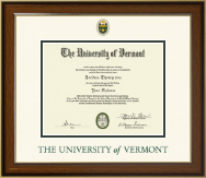 The University of Vermont Diploma Frame - Dimensions Diploma Frame in Westwood