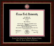 Texas Tech University Health Sciences Center Diploma Frame - Masterpiece Medallion Diploma Frame in Murano