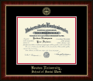 Boston University Diploma Frame - Gold Embossed Diploma Frame in Murano