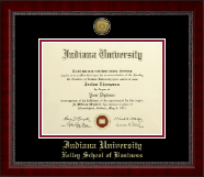Indiana University - Purdue University Diploma Frame - Gold Engraved Medallion Diploma Frame in Sutton