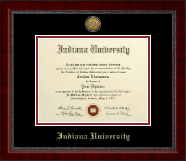 Indiana University Northwest Diploma Frame - Gold Engraved Medallion Diploma Frame in Sutton