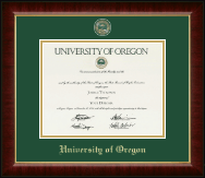 University of Oregon Diploma Frame - Masterpiece Medallion Diploma Frame in Murano