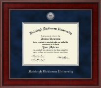Fairleigh Dickinson University Diploma Frame - Presidential Silver Engraved Diploma Frame in Jefferson