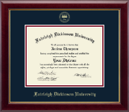 Fairleigh Dickinson University Diploma Frame - Gold Embossed Diploma Frame in Gallery