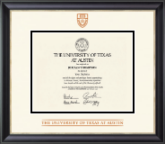 The University of Texas Austin Diploma Frame - Dimensions Diploma Frame in Noir