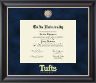 Tufts University Diploma Frame - Regal Edition Diploma Frame in Noir