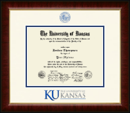 The University of Kansas Diploma Frame - Dimensions Diploma Frame in Murano
