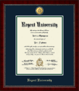 Regent University Diploma Frame - 23K Medallion Diploma Frame in Sutton