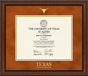 The University of Texas Austin Diploma Frame - Gold Embossed Diploma Frame in Austin