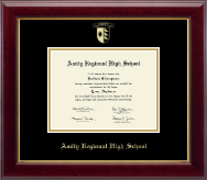 Amity Regional High School Diploma Frame - Gold Embossed Diploma Frame in Gallery