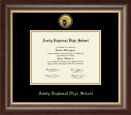 Amity Regional High School Diploma Frame - Gold Engraved Medallion Diploma Frame in Prescott