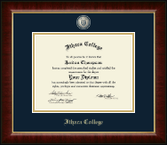 Ithaca College Diploma Frame - Masterpiece Medallion Diploma Frame in Murano