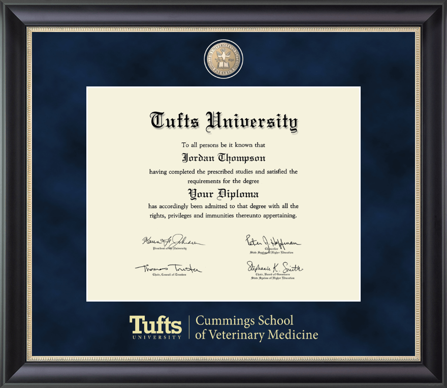 Tufts University Regal Edition Diploma Frame In Noir