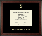 Amity Regional High School Diploma Frame - Gold Embossed Diploma Frame in Studio