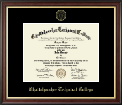 Chattahoochee Technical College Diploma Frame - Gold Embossed Diploma Frame in Studio Gold