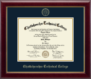 Chattahoochee Technical College Diploma Frame - Gold Embossed Diploma Frame in Gallery