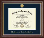 Chattahoochee Technical College Diploma Frame - Gold Engraved Medallion Diploma Frame in Hampshire