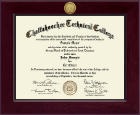 Chattahoochee Technical College Diploma Frame - Century Gold Engraved Diploma Frame in Cordova