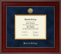Juniata College Diploma Frame - Presidential Gold Engraved Diploma Frame in Jefferson