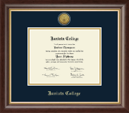 Juniata College Diploma Frame - Gold Engraved Medallion Diploma Frame in Hampshire